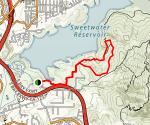 Sweetwater Reservoir to Cactus Hill Map