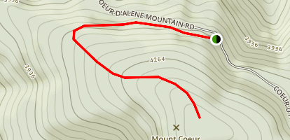 Mount Coeur d'Alene Trail Map