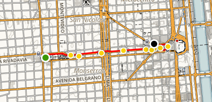 Avenida de Mayo History and Architecture Walk Map