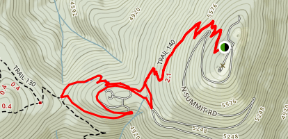 Mount Spokane Summit - Saddle Junction Trail Map