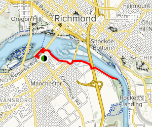 Floodwall and Slave Trail Map