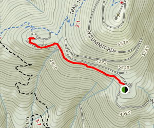 Bald Knob - CCC Cabin Trail Map