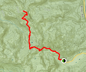 Tinker Knob from Squaw Valley Map