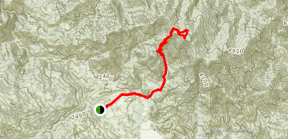 Junipero Serra Peak Map