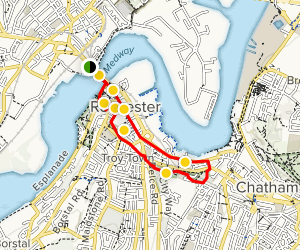 Chatham England Map.Rochester Architecture Walking Tour Medway England Alltrails