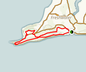 Freshwater, The Needles and Totland Walking Tour Map