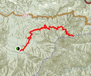 Lower Mount Cammerer Trail Map