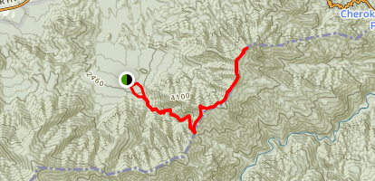 Mount Cammerer via Low Gap Trail Map