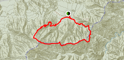 Snake Den Ridge Low Gap Trail Map