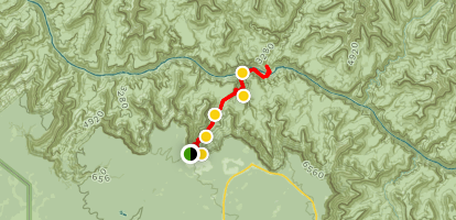 Bright Angel Trail to Bright Angel Campground and River Trail Map