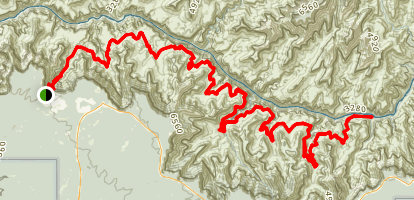 Bright Angel Trail to Tonto Trail Map