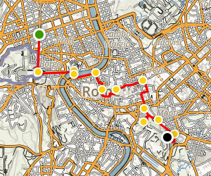 Rome at Night Walking Tour Map