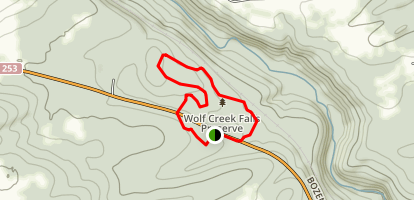 Wolf Creek Falls Preserve Trail Map