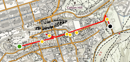 Edinburgh's Royal Mile - Castle To Palace Map