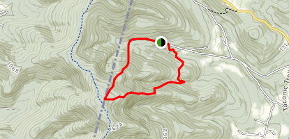 Class of '33 Trail and down the old Williams College Ski Area Map