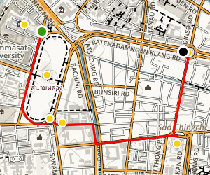 Bangkok Highlights Trail Map