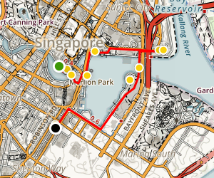 Marina Bay Walking Tour Map