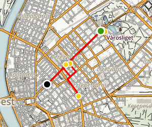 A Walk on Budapest's Andrássy Boulevard Map