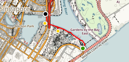 Singapore Green Walking Tour Map