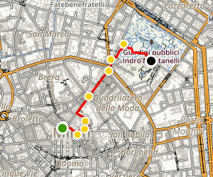 Milan Arts and Culture Walking Tour Map