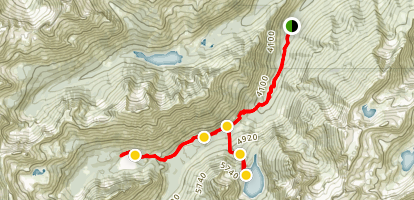Lake Stuart and Colchuck Lake Trail Map