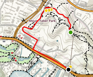 Singapore Scenic Walking Tour Map