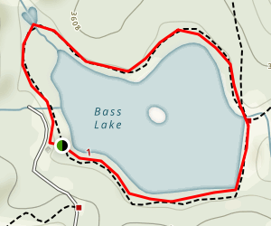 Bass Lake Loop Trail Map