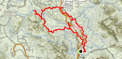 Cathedral Buttes Trail Map