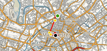 Manchester Architecture Walking Tour Map