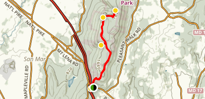 Appalachian Trail to Pogo Campground Map