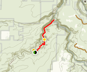 Alder Springs Trail Map