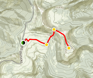 South Tent Mountain Summit from Skyline Drive Map