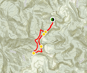 North Tent Mountain from Spring City Canyon Map