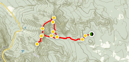Beaver Meadow to Sterling Mountain, Morse Mountain, and Madonna Peak Map