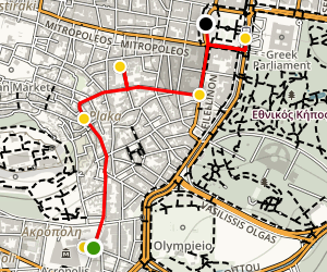 Athens Past and Present Tour Map