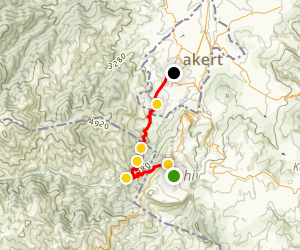 Janapar Trail: Shushi to Stepanakert Map