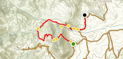 Janapar Trail: Togh to Azokh Map