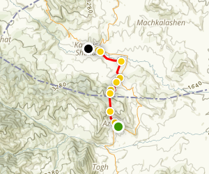 Janapar Trail - Azokh to Karmir Shuka Map
