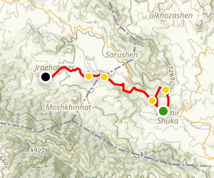 Janapar Trail - Karmir Shuka to Avetaranots Map