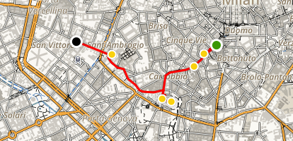 Milan Off the Beaten Path Walking Tour Map