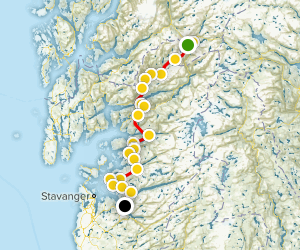 Ryfylke National Tourist Route Map