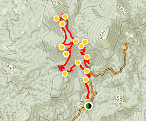 Day Mountain and Mount Kit Carson Trail Map