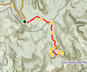 Northgate Peaks via Kolob Terrace Map