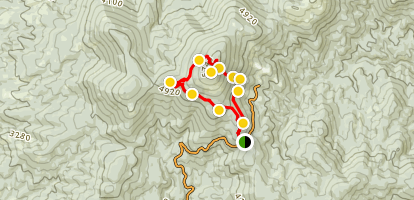 Mount Spokane July-Oct Hike Map