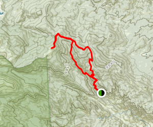 Miller Fork, Signal Mountain, and Donner Pass Loop Trail Map
