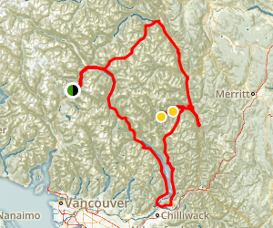 Whistler, Harrison, Nahatlatch and Lilloet Loop Map