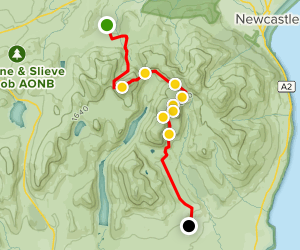 Slieve Bearnagh, Beg and Cove Mountain Map