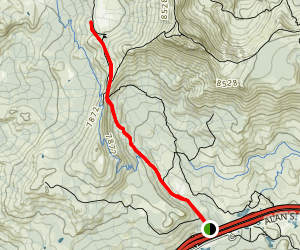 Peter Grubb Hut and Round Valley Trail Map