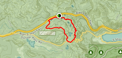 Donner Pass Lakes & Boreal Ridge Loop Map