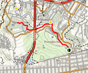Presidio Bay Area Ridge Trail Map